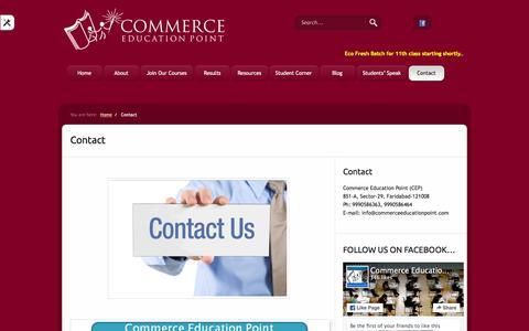 Screenshot of Contact Page commerceeducationpoint.com - Contact  «  Commerce Education Point - captured Jan. 30, 2016