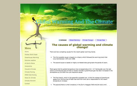 Screenshot of Home Page global-warming-and-the-climate.com - Global Warming And The Climate - captured April 9, 2017