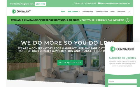 Screenshot of Home Page connaughtconservatories.co.uk - Home   Connaught Conservatory Roofs - captured Sept. 29, 2018