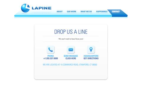 Screenshot of Contact Page lapineinc.com - Contact | Lapine Associates, a Full-Service Merchandise Agency Specializing in Brand-Name and Promotional Products - captured Oct. 22, 2014