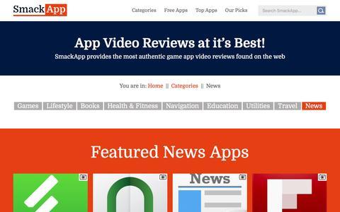 Screenshot of Press Page smackapp.com - SmackApp | News - captured Jan. 31, 2016