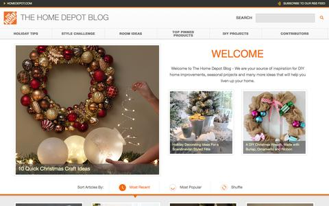 Screenshot of Blog homedepot.com - The Home Depot - captured Dec. 21, 2015