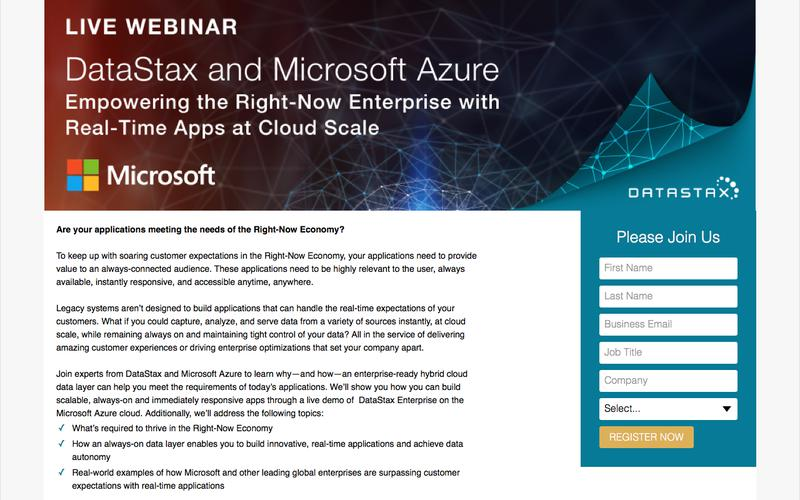 DataStax and Microsoft Azure: Empowering the Right-Now Enterprise with Real-Time Apps at Cloud Scale