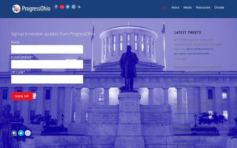 Screenshot of Signup Page progressohio.org - Join - ProgressOhio - captured May 23, 2017
