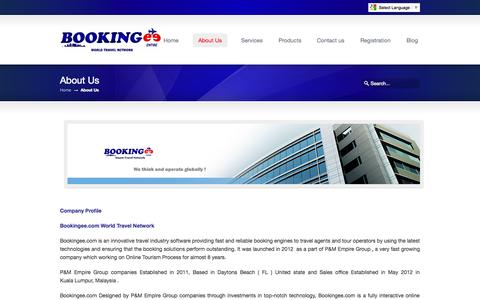 Screenshot of About Page bookingee.com - About Us «  Bookingee.com Online B2B flight Booking ,Online B2B Hotel Booking - captured Oct. 5, 2014