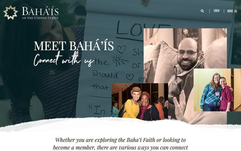 Screenshot of Contact Page bahai.us - Contact - Bahá'ís of the United States - captured July 1, 2018