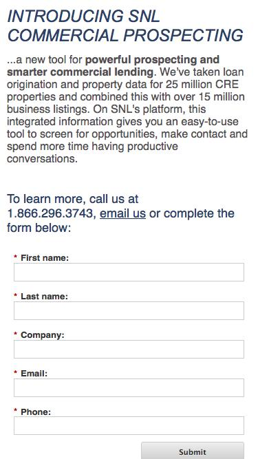 SNL Commercial Prospecting to grow your CRE loans