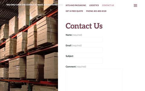 Screenshot of Contact Page justkitting.com - Contact Us | Just Kitting - captured Sept. 30, 2014