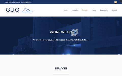 Screenshot of Services Page gug.org.mt - Services - GUG Official Website - captured July 15, 2018