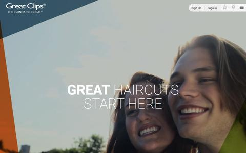 Screenshot of Home Page greatclips.com - Haircuts & Haircare Products | Great Clips - captured May 23, 2017