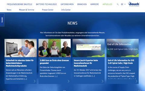 Screenshot of Press Page jauch.de - Alle wichtigen Termine, interessante Informationen, Neuheiten und Neuigkeiten von Jauch. - captured Oct. 16, 2017
