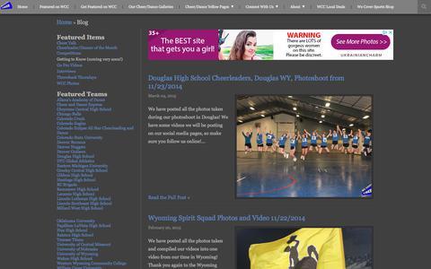 Screenshot of Blog wecovercheer.com - We Cover Cheer | Blog - captured Sept. 21, 2018