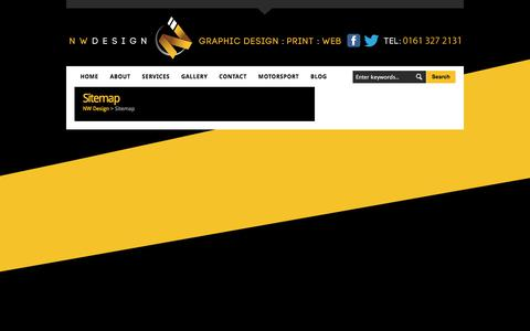 Screenshot of Site Map Page nwdesign.co - Sitemap - NW Design NW Design - captured June 15, 2017