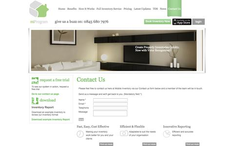 Screenshot of Contact Page mobileinventory.co.uk - Contact Us Mobile Inventory - captured Oct. 7, 2014