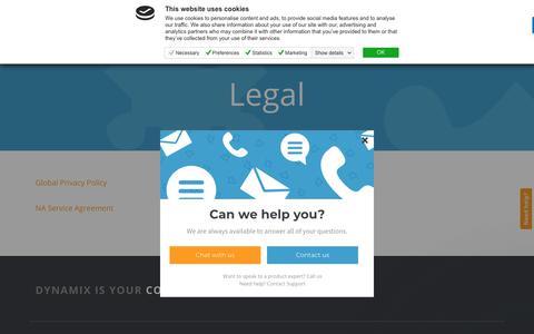 Screenshot of Terms Page dynamixcloud.com - Care Team says… - captured Oct. 7, 2018