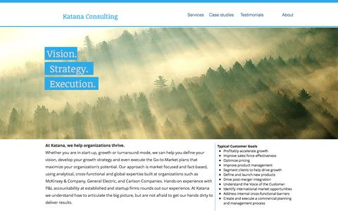 Screenshot of Home Page katanaconsulting.com - Business Growth Strategy | Minneapolis | Katana Consulting - captured Feb. 18, 2018