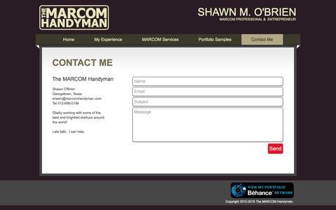 Screenshot of Contact Page marcomhandyman.com - The MARCOM Handyman | Contact - captured Dec. 1, 2016
