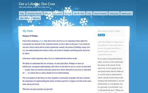 Screenshot of About Page getalifetime.com - My Path | Get A Lifetime Dot Com - captured Nov. 4, 2018