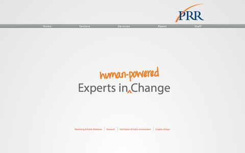 Screenshot of Home Page prrbiz.com - PRR Biz - captured Oct. 1, 2014