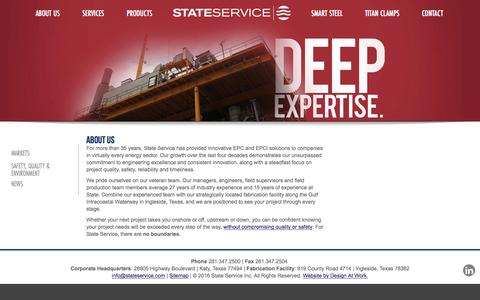 Screenshot of About Page stateservice.com - Offshore & Onshore Solutions | State Service - captured Jan. 12, 2016