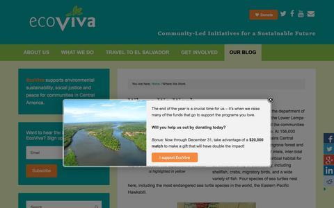 Screenshot of Contact Page ecoviva.org - Where We Work - EcoViva - captured Dec. 7, 2015
