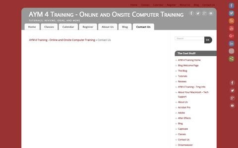 Screenshot of Contact Page aym4training.com - Contact Us – AYM 4 Training – Online and Onsite Computer Training - captured Nov. 6, 2018