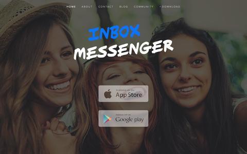 Screenshot of Home Page inboxtheapp.com - Inbox Messenger - captured Sept. 20, 2015