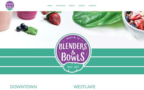 Screenshot of Home Page blendersandbowls.com - Blenders and Bowls   Wanna Spoon? - captured July 29, 2016