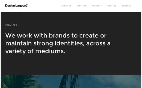 Screenshot of Services Page designlagoon.com - Services | Design Lagoon - captured Jan. 7, 2016
