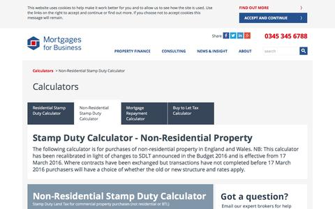 Non-Residential Stamp Duty Calculator | Mortgages for Business