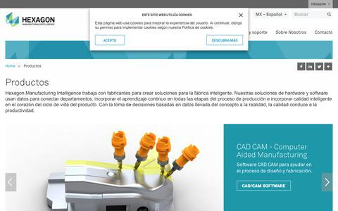 Screenshot of Products Page hexagonmi.com - Productos | Hexagon Manufacturing Intelligence - captured Oct. 21, 2018