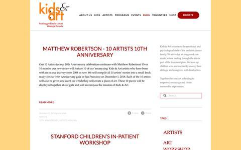 Screenshot of Blog kidsandart.org - Blog — Kids and Art Foundation - captured Oct. 15, 2018