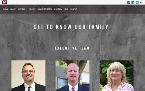 Screenshot of Team Page marketcontractors.com - Our Team - Market Contractors LTD. - captured Sept. 20, 2018