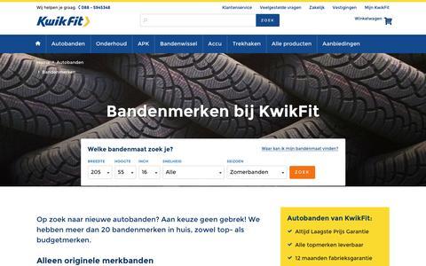 Autobanden van alle merken vind je online bij KwikFit
