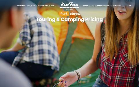 Screenshot of Pricing Page keatfarm.co.uk - Touring And Camping In Kent Prices - Keat Farm Parks - captured Oct. 15, 2018