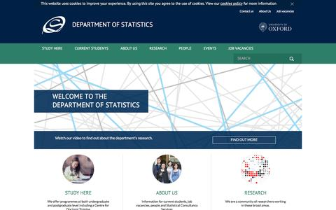 Oxford University Statistics | Welcome to the Department of Statistics