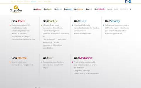 Screenshot of Home Page grupoges.es - Grupoges - captured Nov. 20, 2018