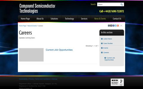 Screenshot of Jobs Page compoundsemi.co.uk - Compound Semiconductor Technologies | - captured Jan. 30, 2016