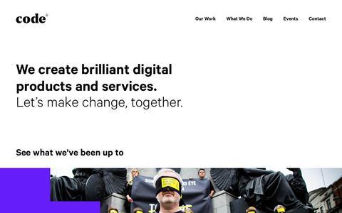 Screenshot of Home Page codecomputerlove.com - Code Computerlove: A Digital Agency Where Brilliant Never Stops - captured March 17, 2019