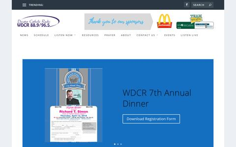 Screenshot of Home Page wdcrradio.com - Decatur Catholic Radio | Spreading the Good News to Decatur and Macon County, Illinois. - captured Feb. 21, 2018
