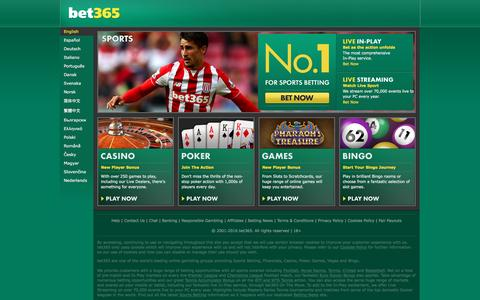 Screenshot of Contact Page bet365.com - bet365 - Sports Betting, Premier League and Champions League Football Odds, plus ATP and WTA Tennis Prices, Casino, Poker, Games, Vegas, Bingo - captured April 27, 2016