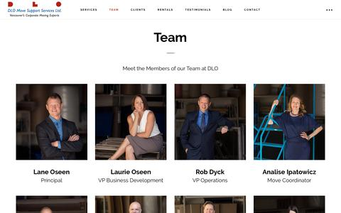 Screenshot of Team Page dlo.ca - Team Members at Vancouver's Corporate Moving Company - captured Oct. 7, 2018