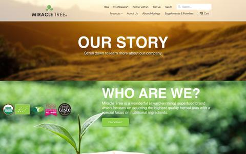 Screenshot of About Page miracletree.co - About Us                           | Miracle Tree - captured Nov. 20, 2015