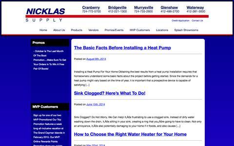 Screenshot of Blog nicklassupply.com - Blog   Nicklas Supply - captured Oct. 7, 2014