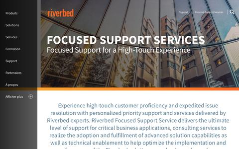 Screenshot of Support Page riverbed.com - Focused Support Services | Riverbed | FR - captured March 1, 2018