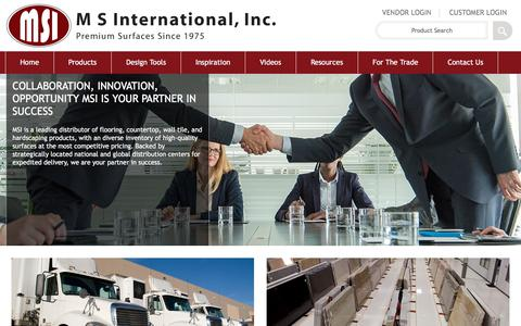 Screenshot of msistone.com - Buisness Segments | M S International, Inc. | Premium Surfaces - captured Nov. 2, 2017