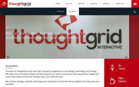 Screenshot of Team Page thoughtgridinteractive.com - Team - UI UX Design and Development, Web Design Company - captured Dec. 23, 2016