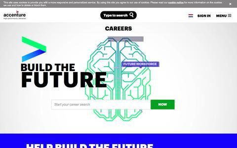 Screenshot of Jobs Page accenture.com - Accenture Career Opportunities - captured July 9, 2017
