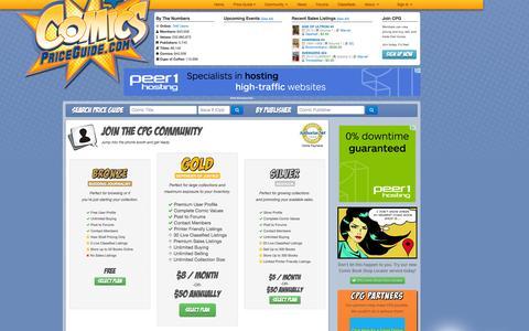 Screenshot of Signup Page comicspriceguide.com - ComicsPriceGuide.com - Sign Up - captured Sept. 23, 2014