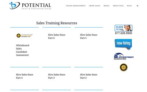 Video Training – Potential Sales and Consulting Group